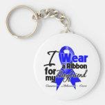 Boyfriend - Colon Cancer Ribbon Keychain