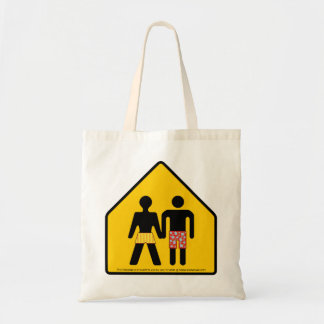 boyfriend crossing tote bag