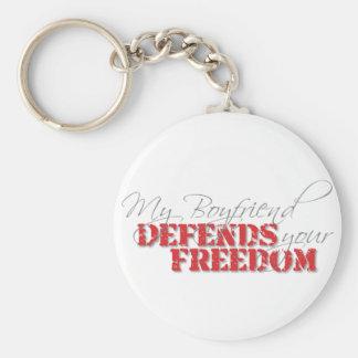 Boyfriend Defends Freedom Basic Round Button Keychain