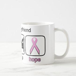 Boyfriend Eat Sleep Hope - Breast Cancer Classic White Coffee Mug