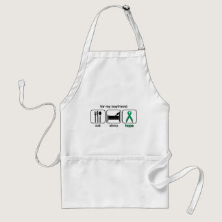 Boyfriend Eat Sleep Hope - Kidney Cancer Adult Apron