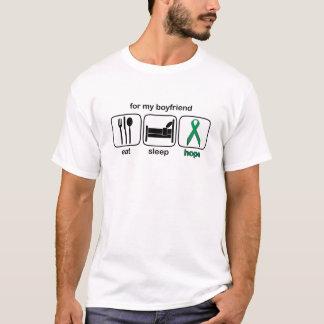 Boyfriend Eat Sleep Hope - Kidney Cancer T-Shirt