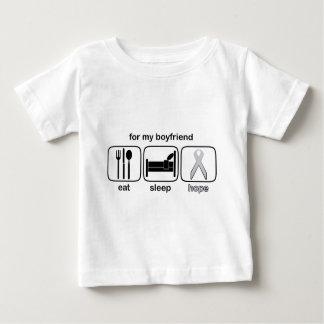 Boyfriend Eat Sleep Hope - Lung Cancer Tee Shirt