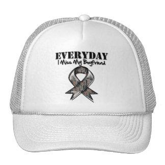 Boyfriend - Everyday I Miss My Hero Military Trucker Hats