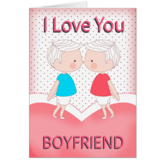 boyfriend gay cute kissing couple valentine card - Gay Valentines Cards