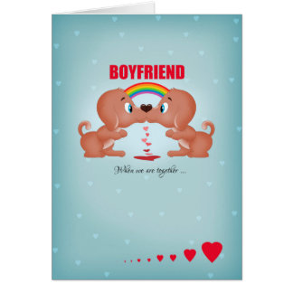 boyfriend gay male valentines day kissing dogs an card - Gay Valentines Cards