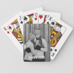 """Boyfriend Gift Custom Photo Playing Cards<br><div class=""""desc"""">Easily add your custom photo and name(s) to these cool playing cards.</div>"""