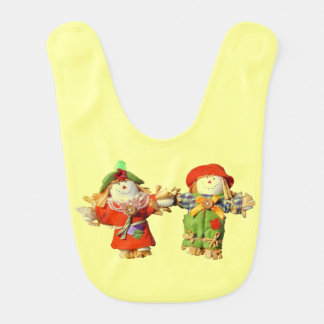 Boyfriend Girlfriend Scarecrow doll couple Bib