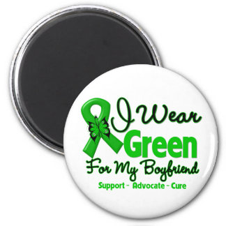 Boyfriend - Green  Awareness Ribbon 2 Inch Round Magnet