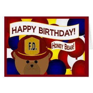 Boyfriend - Happy Birthday Firefighter Hero! Card