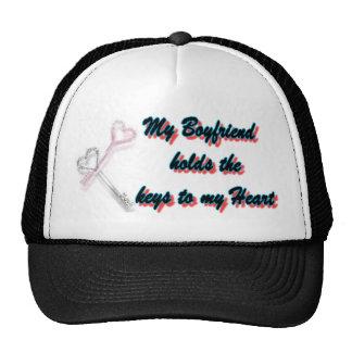 Boyfriend Holds keys to my heart Trucker Hat