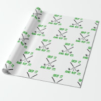 Boyfriend Husband Christmas Birthday Golfing Wrapping Paper