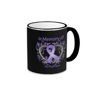 Boyfriend - In Memory Heart Hodgkins Disease Ringer Coffee Mug