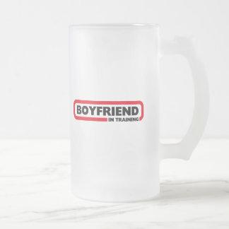 Boyfriend in Training - Valentine Gift Frosted Glass Beer Mug