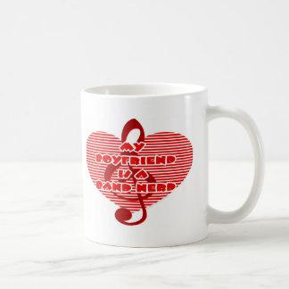 Boyfriend Is A Band Nerd Classic White Coffee Mug