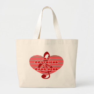 Boyfriend Is A Band Nerd Large Tote Bag