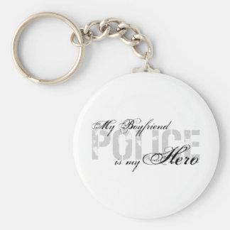 Boyfriend Is My Hero - POLICE Basic Round Button Keychain