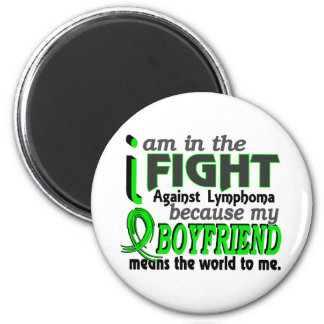 Boyfriend Means The World To Me Lymphoma 2 Inch Round Magnet