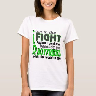 Boyfriend Means The World To Me Lymphoma T-Shirt