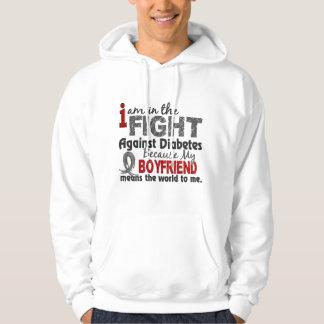 Boyfriend Means World To Me Diabetes Hooded Sweatshirt