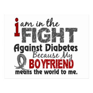 Boyfriend Means World To Me Diabetes Postcard