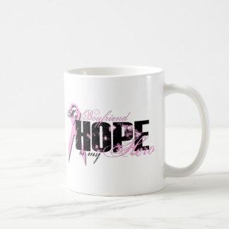 Boyfriend My Hero - Breast Cancer Hope Classic White Coffee Mug