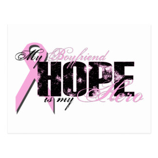 Boyfriend My Hero - Breast Cancer Hope Postcard