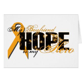 Boyfriend My Hero - Leukemia Hope Greeting Card