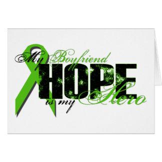 Boyfriend My Hero - Lymphoma Hope Greeting Card