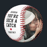 """Boyfriend Photo Baseball<br><div class=""""desc"""">Cute valentine baseball gift featuring the name of your boyfriend,  the saying """"you're such a catch. and your name. Plus 2 photos for you to customize with your own to make this an extra special valentines/birthday gift.</div>"""