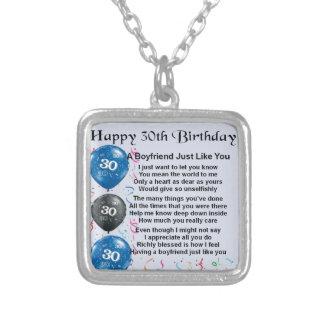 Boyfriend poem 30th Birthday Jewelry