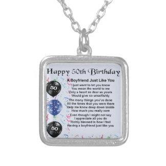 Boyfriend poem 50th birthday necklace