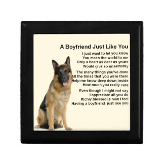 Boyfriend Poem - German Shepherd Jewelry Box
