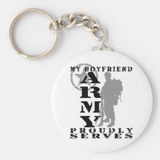 Boyfriend Proudly Serves - ARMY Basic Round Button Keychain