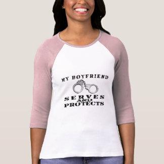 Boyfriend Serves Protects - Cuffs T-Shirt