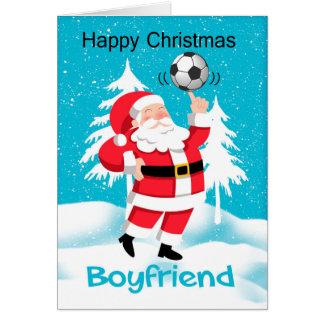 Boyfriend Soccer /Football Christmas Greeting Card