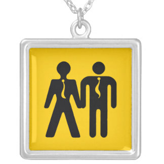 boyfriend x-ing icon square pendant necklace