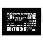 Boyfriends Best & Greatest Boyfriend : Qualities Greeting Cards