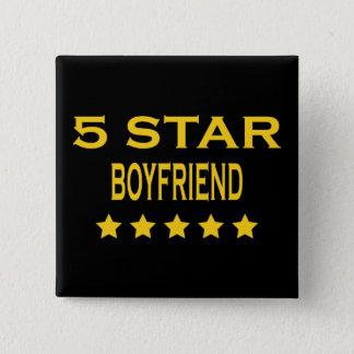 Boyfriends Birthdays Valentines 5 Star Boyfriend Pinback Button