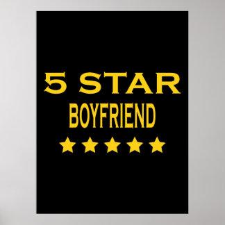 Boyfriends Birthdays Valentines 5 Star Boyfriend Poster