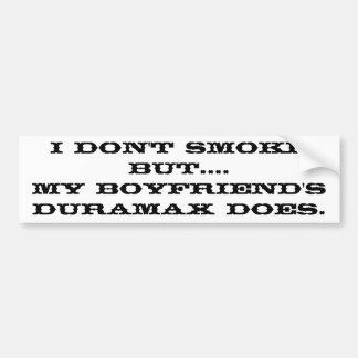 Boyfriend's Duramax Car Bumper Sticker