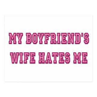 Boyfriend's Wife Postcard