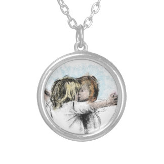 boygirl round pendant necklace