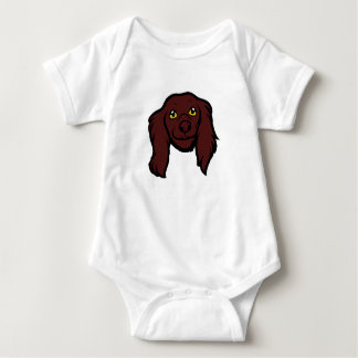boykin spaniel 2 sided head cartoon baby bodysuit
