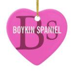 Boykin Spaniel Breed Monogram Ceramic Ornament