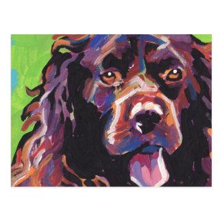 Boykin Spaniel Bright Colorful Pop Dog Art Postcard