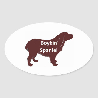Boykin Spaniel color name silo.png Oval Sticker