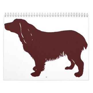 Boykin Spaniel color silhouette Calendar