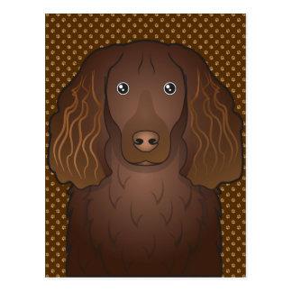 Boykin Spaniel Dog Cartoon Paws Postcard