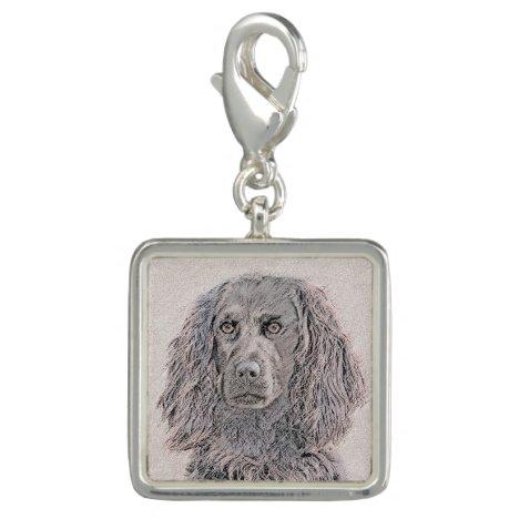 Boykin Spaniel Painting - Cute Original Dog Art Charm